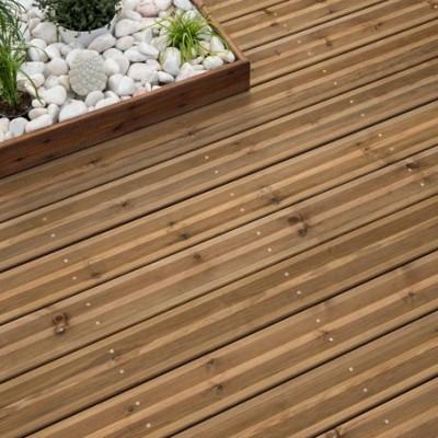 Lame terrasse marron pourbricoler malin 39 - Lame de terrasse pin autoclave classe 4 ...