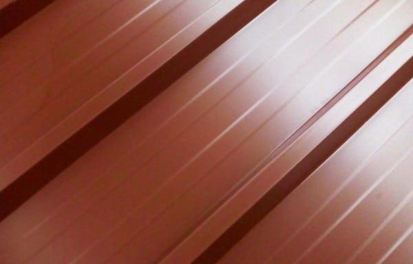 Bac acier rouge longueur 3 m